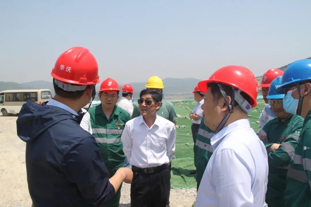市聯合工作組到華沃水泥核驗400萬噸/年砂石骨料項目